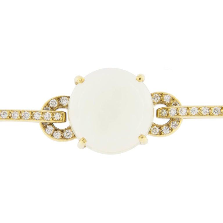 Jona Prehnite Citrine White Diamond 18 Karat Yellow Gold Necklace For Sale 2