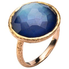 Jona Quartz Lapis Lazuli 18 Karat Yellow Gold Ring