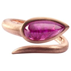 Jona Ruby 18 Karat Rose Gold Coil Snake Ring