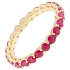 Jona Ruby 18 Karat Yellow Gold Eternity Band Ring