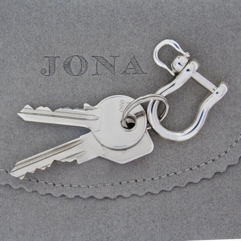 Women's or Men's Jona Shackle Sterling Silver Key Holder For Sale