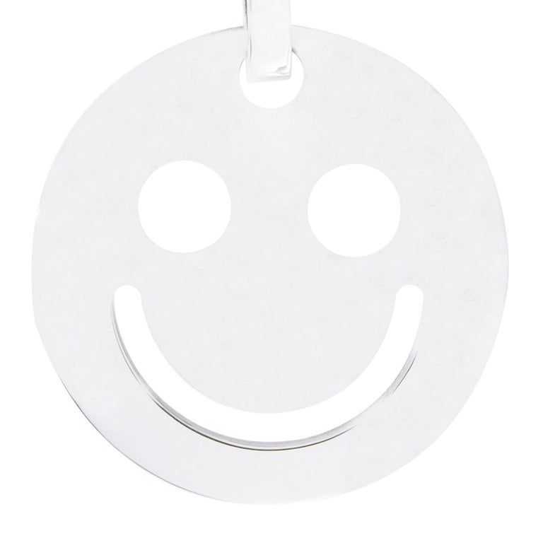 Jona Smile Sterling Silver Key Holder For Sale 1