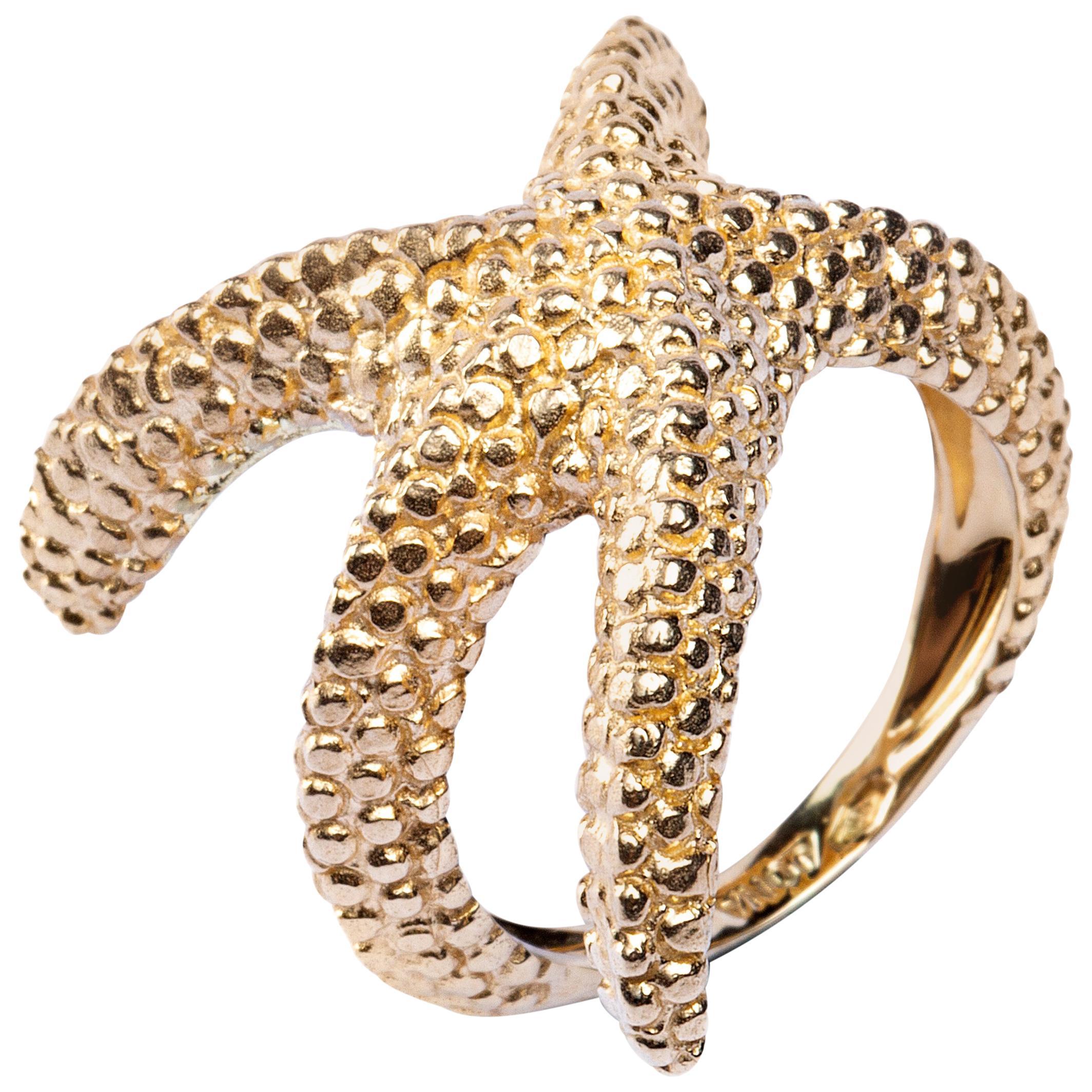 Alex Jona Starfish 18 Karat Yellow Gold Ring
