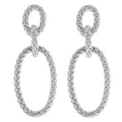 Jona Sterling Silver Basket Weave Pendant Earrings