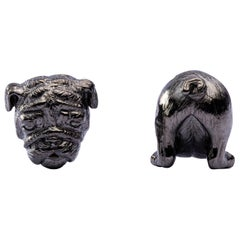 Jona Sterling Silver Bulldog Cufflinks
