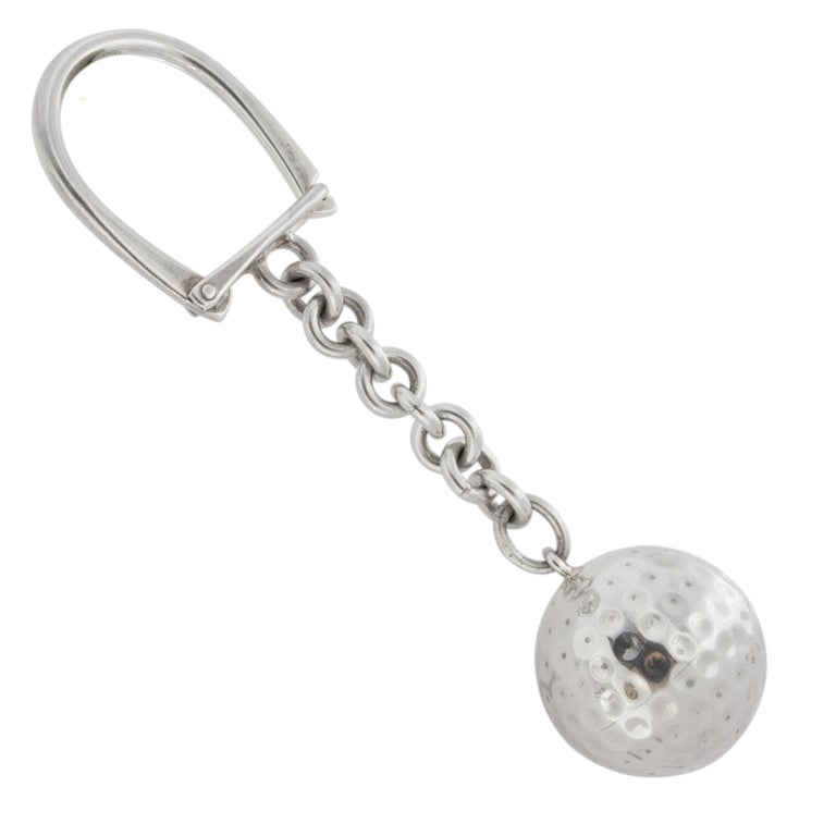 Jona Sterling Silver Golf Ball Key Holder In New Condition For Sale In Torino, IT
