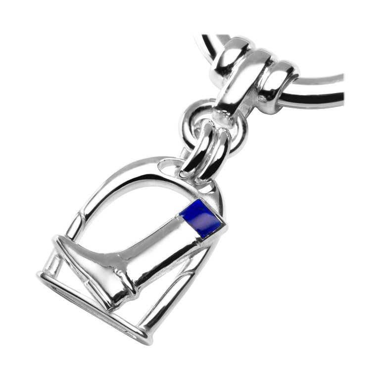 Jona Sterling Silver Horseshoe Equestrian Key Holder For Sale