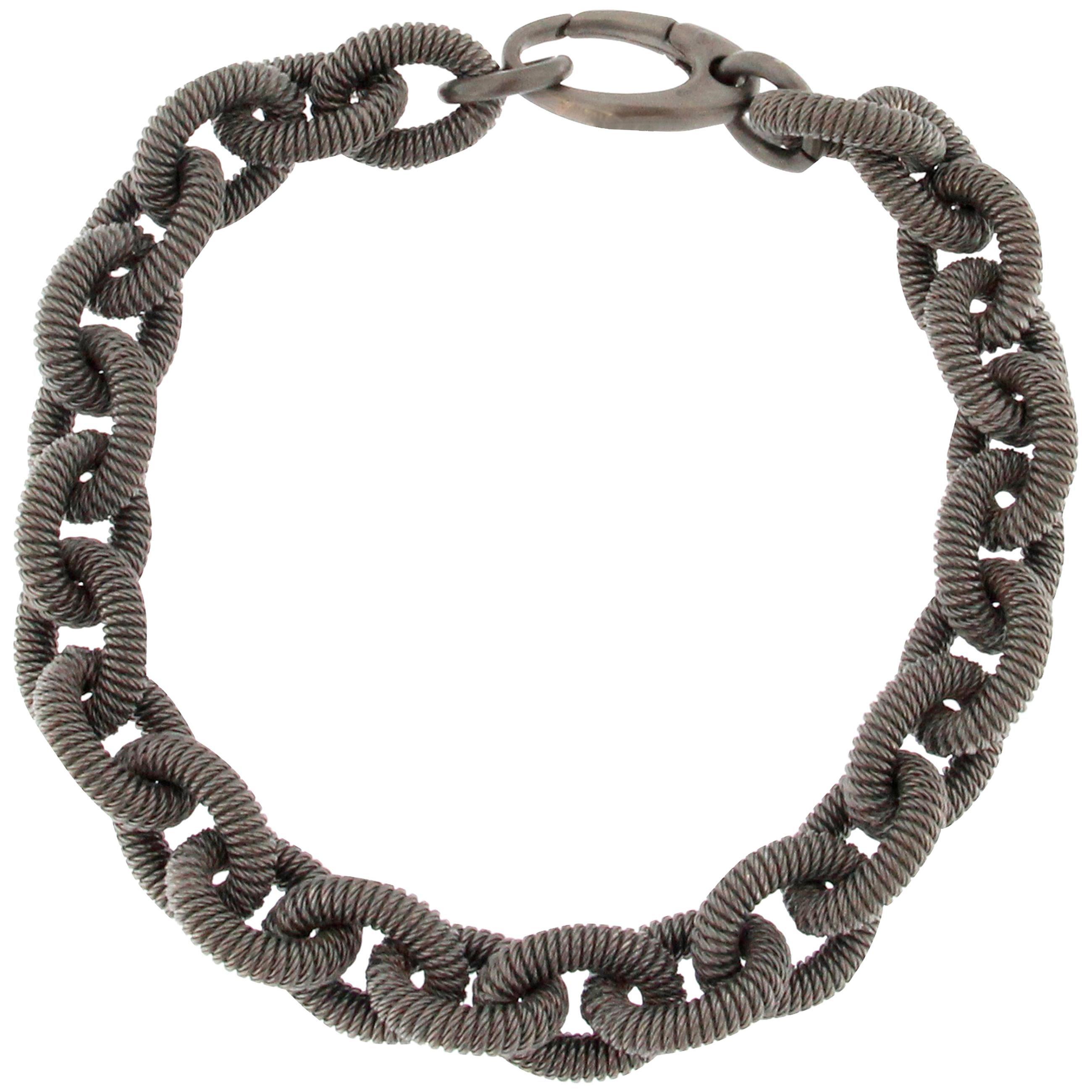 Jona Sterling Silver Link Chain Bracelet
