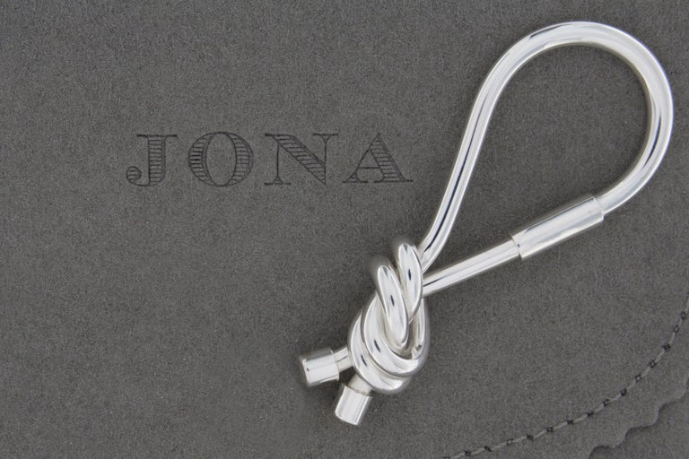 Jona design collection, hand crafted in Italy, Sterling Silver key holder. Dimensions : L 2.84 in/ 72.36 mm x W 1.18 in/ 30.15 mm x Depth: 0.61 in/ 15.58 mm All Jona jewelry is new and has never been previously owned or worn. Each item will arrive