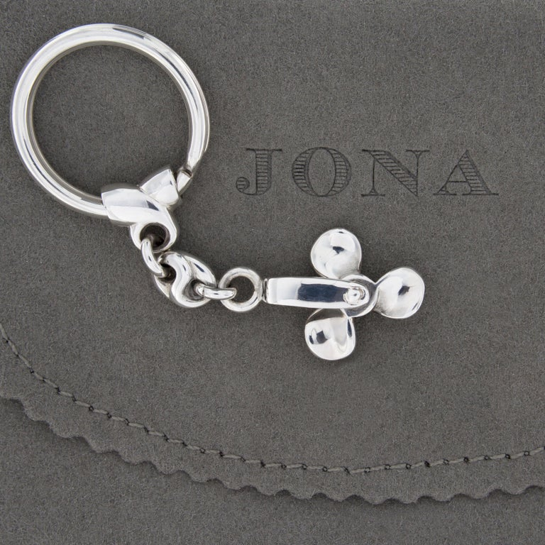 Jona Sterling Silver Propeller Key Holder In New Condition For Sale In Torino, IT