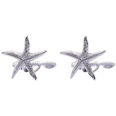 Jona Sterling Silver Seahorse and Starfish Cufflinks