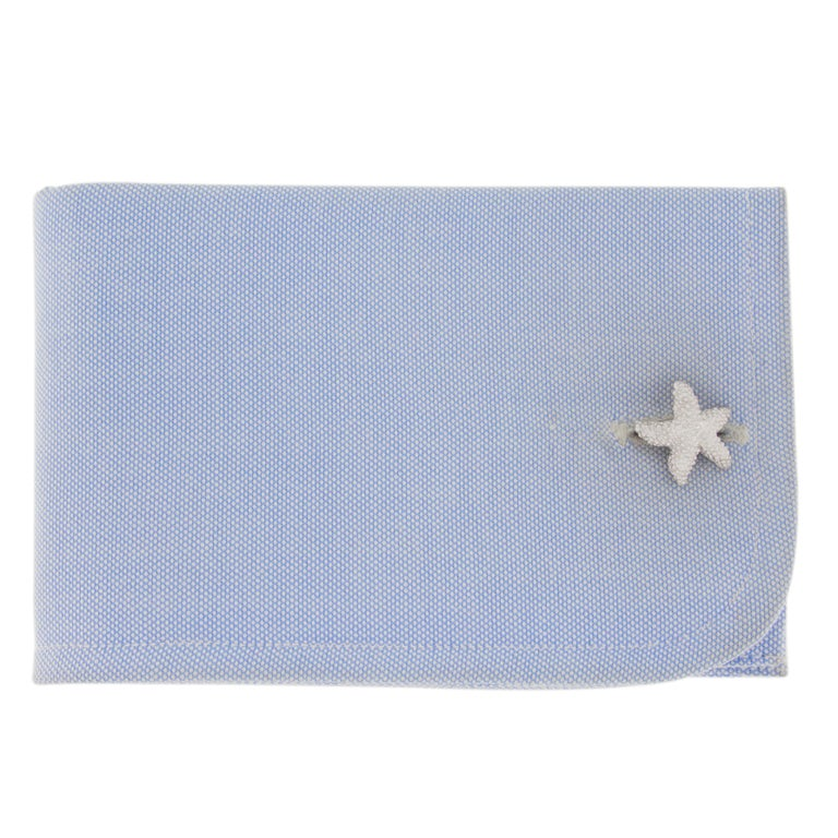 Jona design collection, hand crafted in Italy, starfish sterling silver rhodium plated cufflinks.  Marked JONA. All Jona jewelry is new and has never been previously owned or worn. Each item will arrive at your door beautifully gift wrapped in Jona