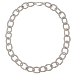 Jona Sterling Silver Twisted Wire Chain Link Necklace