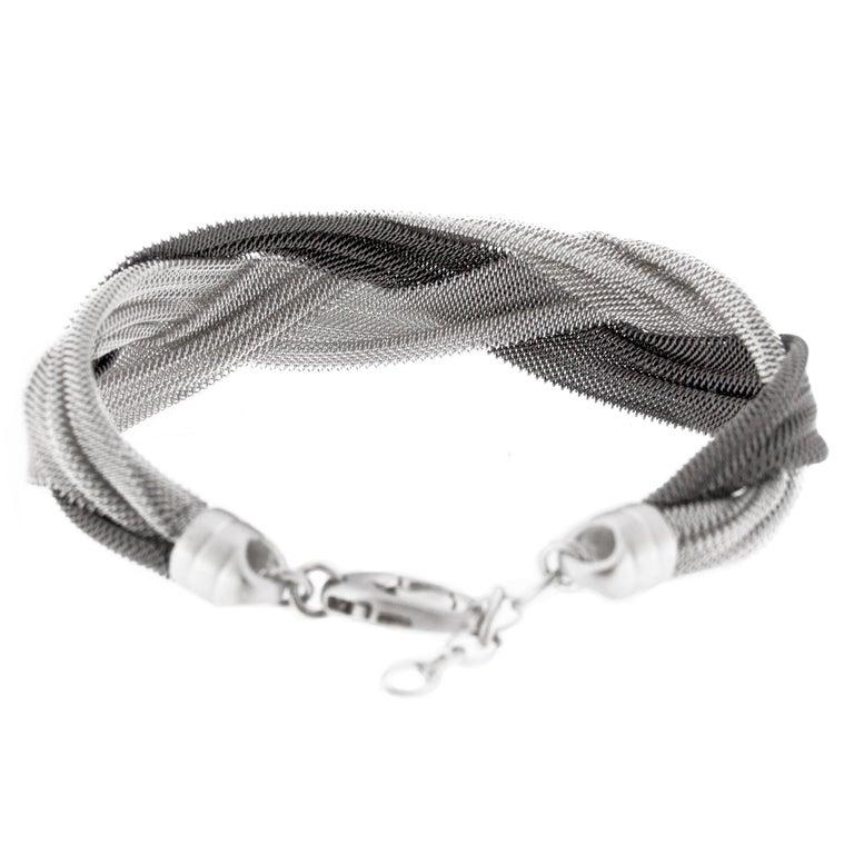 Women's Jona Sterling Silver Woven Bracelet For Sale