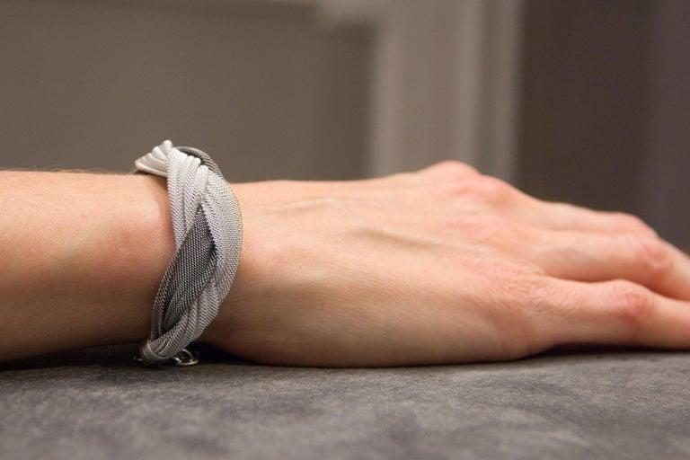 Jona Sterling Silver Woven Bracelet For Sale 1