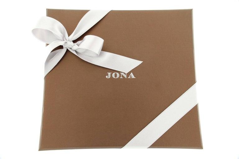Jona Tanzanite Blue Sapphire White Diamond 18 Karat Rose Gold Necklace For Sale 1