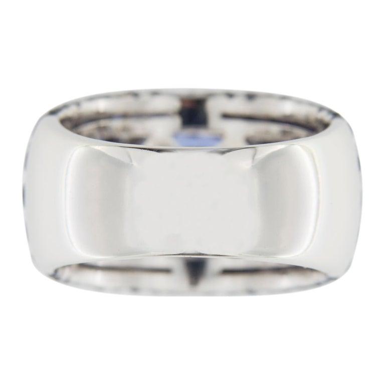 Jona Tanzanite Blue Sapphire White Gold Band Ring For Sale 5