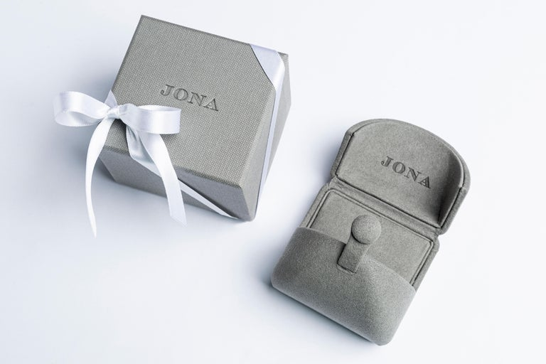 Jona Tanzanite Blue Sapphire White Gold Band Ring For Sale 6
