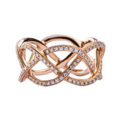 Jona Treillage 18 Karat Pink Gold Eternity White Diamond Band Ring