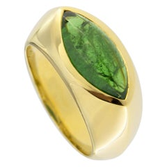 Jona Tsavorite 18 Karat Yellow Gold Ring Band