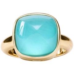 Jona Turquoise Quartz 18 Karat Yellow Gold Ring