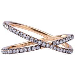 Jona Twiggy White Diamond 18 Karat Rose Gold Ring
