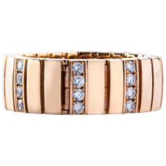 Jona White Diamond 18 Karat Pink Gold Flexible Band Ring