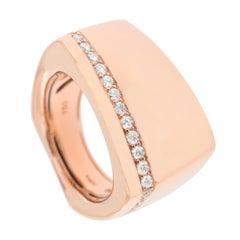 Alex Jona White Diamond 18 Karat Rose Gold Band Ring