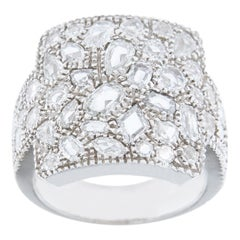 Jona White Diamond 18 Karat White Gold Band Ring