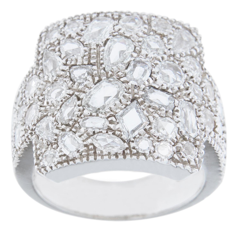 Alex Jona White Diamond 18 Karat White Gold Band Ring