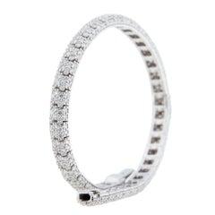 Jona 18 Karat White Gold White Diamond Bracelet
