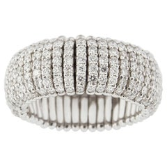 Jona White Diamond 18 Karat White Gold Flexible Ring