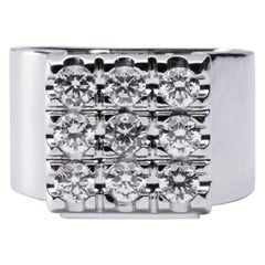 Jona White Diamond 18 Karat White Gold Ring Band