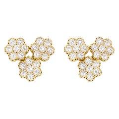 Jona White Diamond 18 Karat White Gold Stud Earrings