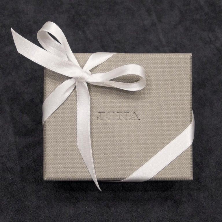 Jona White Diamond 18 Karat Yellow Gold Hoop Earrings For Sale 3