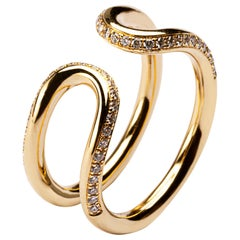 Jona White Diamond 18 Karat Yellow Gold Open Band Ring