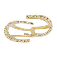 Jona White Diamond 18 Karat Yellow Gold Ring