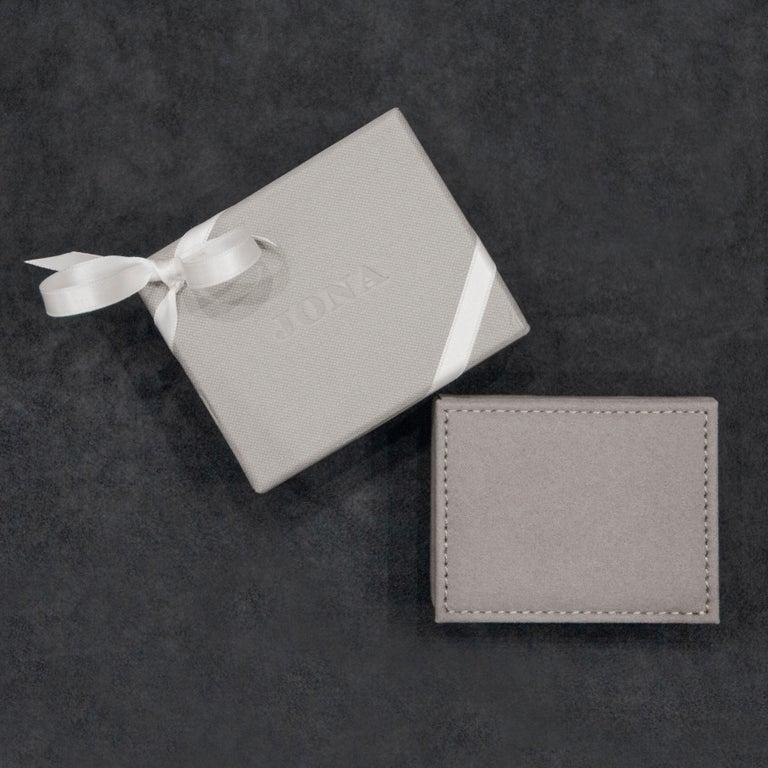 Jona White Diamond 18k White Gold Stud Pebble Earrings For Sale 1