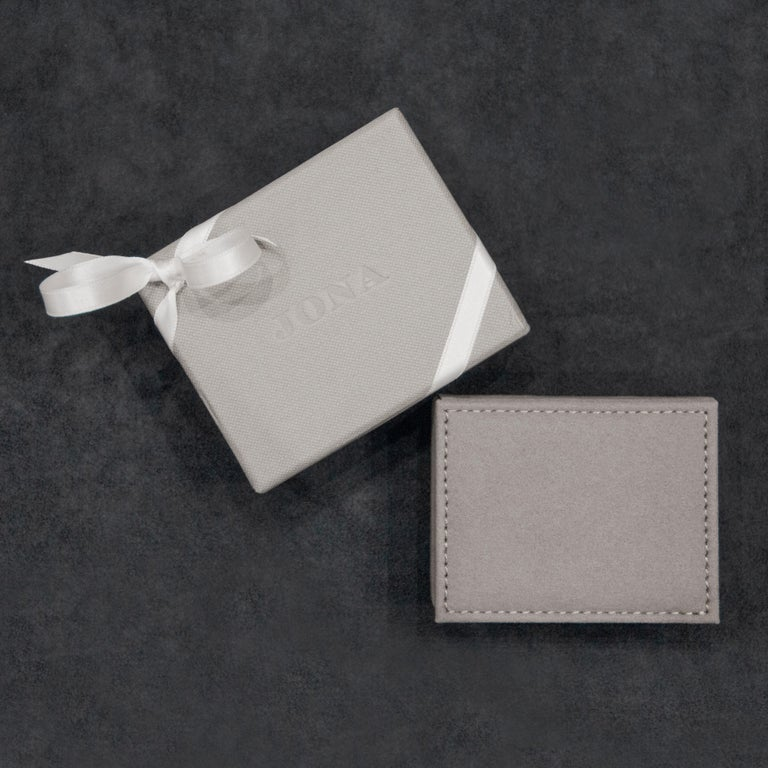 Women's Jona White Diamond Pavé 18 Karat White Gold Hoop Earrings For Sale