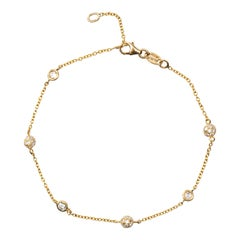 Jona White Diamonds 18 Karat Yellow Gold Chain Bracelet