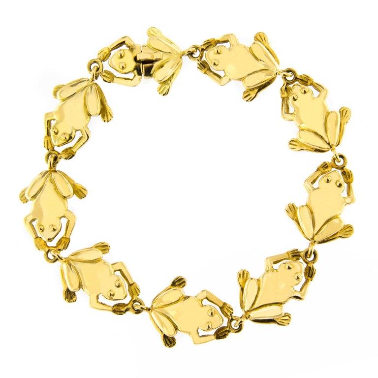 Jona 18k Yellow Gold Frog Charm Bracelet