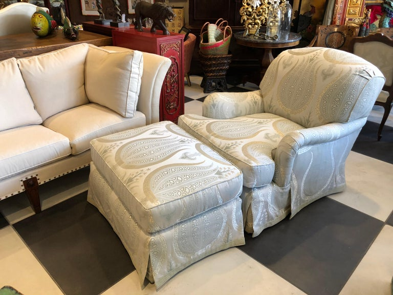 American Jonas Armchair and Ottoman For Sale