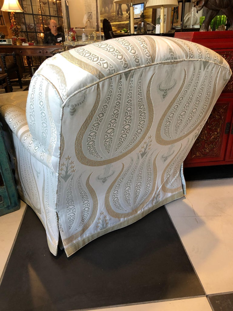 Jonas Armchair and Ottoman In Excellent Condition For Sale In Sarasota, FL