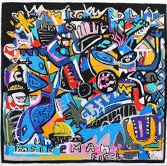 Main Man - Large Colorful Original Artwork