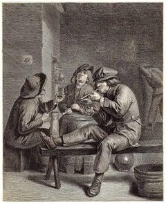 Tabificum frusta clamas […] - Men smoking and drinking.
