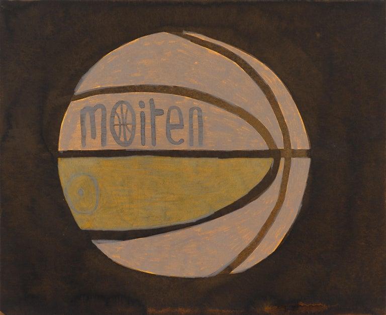 Untitled Basketball - Painting by Jonas Wood