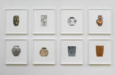 8 Pots, set of etchings by American Contemporary Artist Jonas Wood