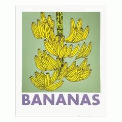 Bananas, Screenprint, Contemporary Art, Still Life, 21st Century