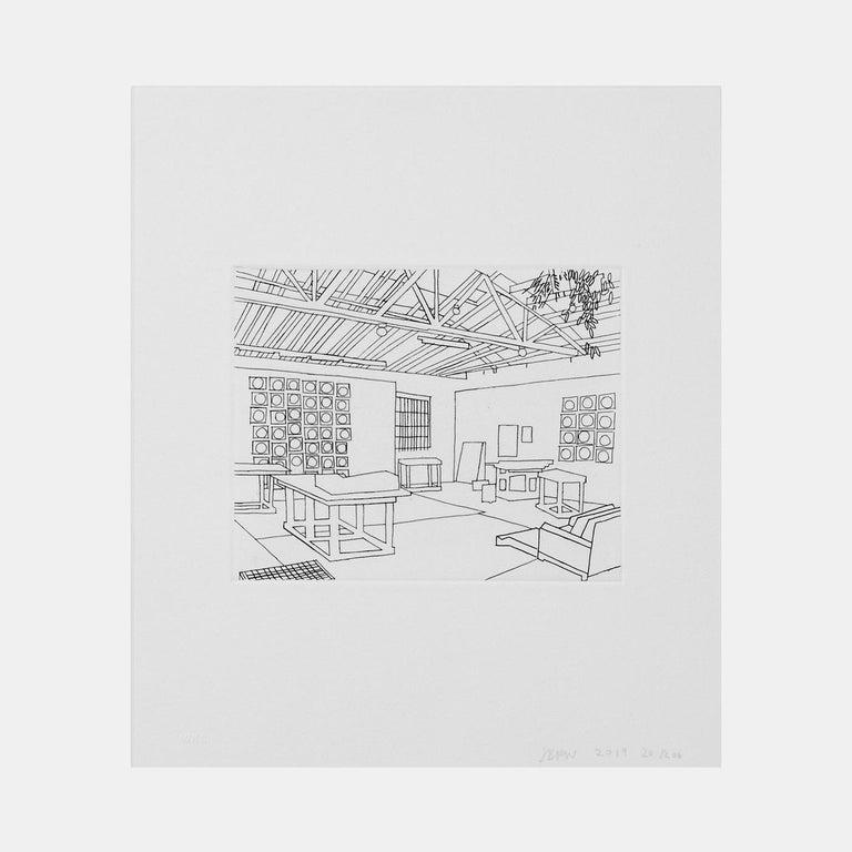 Bball Studio (2019) (signed) - Print by Jonas Wood