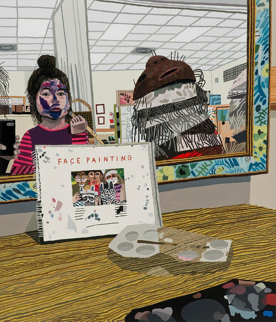 Jonas Wood Face Painting Print Dallas Museum Of Art Kids Contemporary Street Art